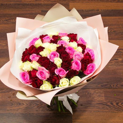 51 микс из роз, 40см: букеты цветов на заказ Flowwow