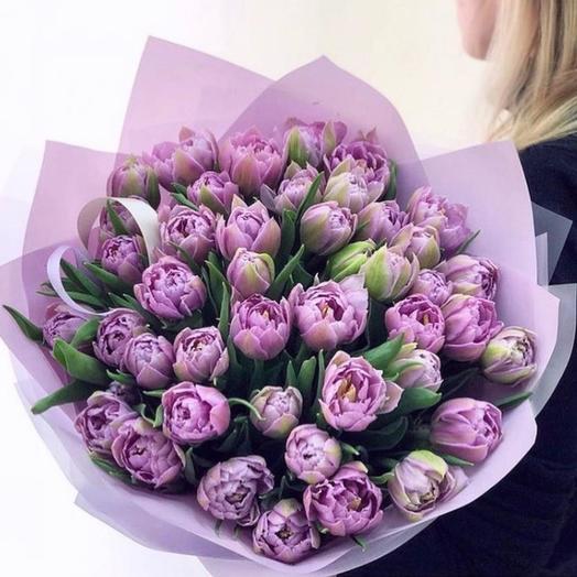 Лавандовые тюльпаны: букеты цветов на заказ Flowwow