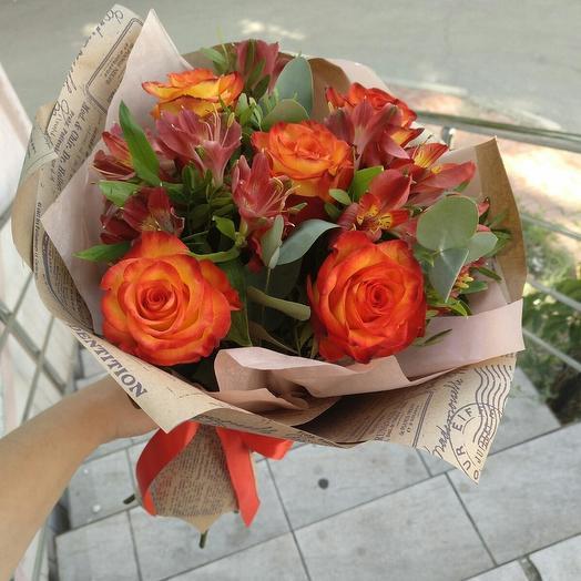 """Букет """"Романтика"""" с красными розами"""