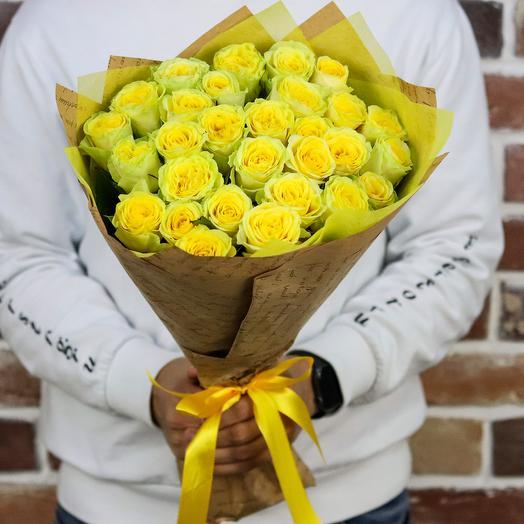 Букет из 29 желтых роз (50 см). N893