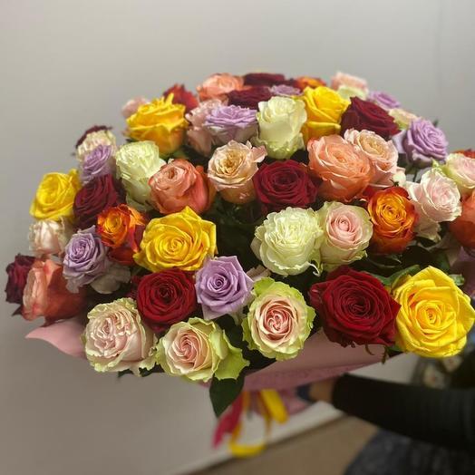 Розы Эквадор  микс 51шт