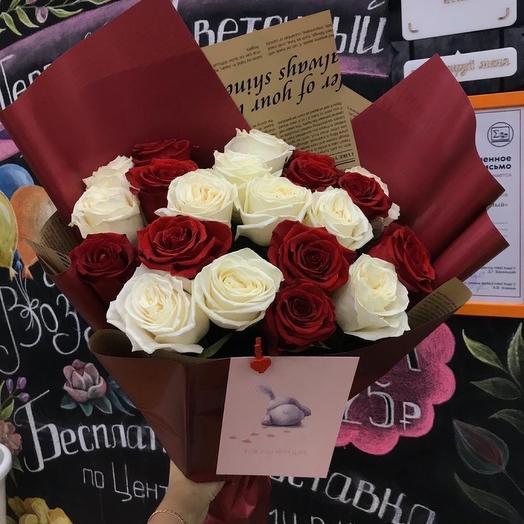 Розы Эквадор в корейском оформлении