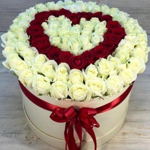 101 роза 🌹 в коробке