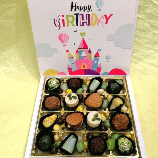 Набор конфет ручной работы FRENCH KISS SPB 10/1 С днем рожденья 1