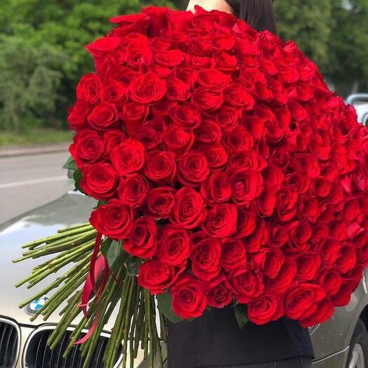 101 Роза Эквадор 80 см