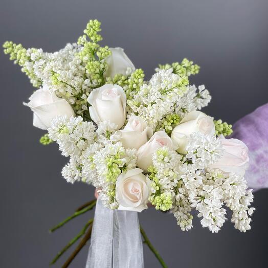 Свадебный букет «Цветение сирени»