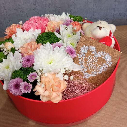 """Цветы в коробке """"Комплимент"""""""
