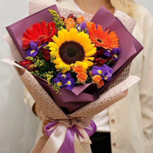 Букет цветов Багряный лес