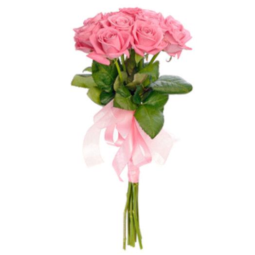 Букет из розовой розы Розетта: букеты цветов на заказ Flowwow