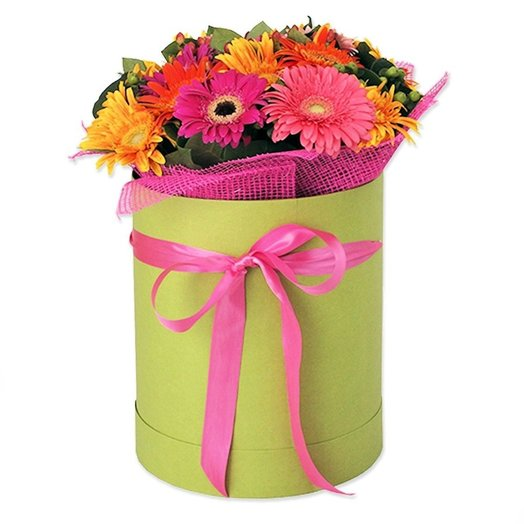 Герберы в коробке!: букеты цветов на заказ Flowwow