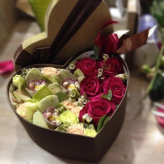 Королевское сердце: букеты цветов на заказ Flowwow