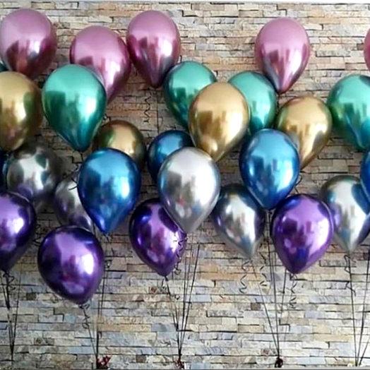 Хромированные шары 20 шт: букеты цветов на заказ Flowwow