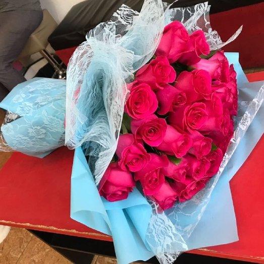 """Ажурный букет от """"Azaliya"""" 25 роз: букеты цветов на заказ Flowwow"""