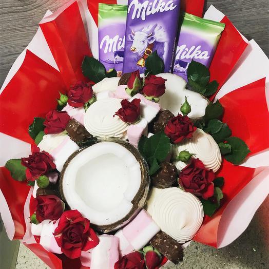 Сладкий букет «красный»: букеты цветов на заказ Flowwow