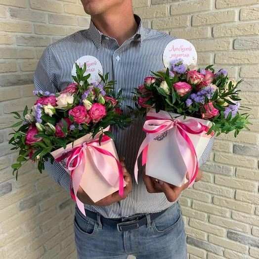 Кашпо с розочками: букеты цветов на заказ Flowwow
