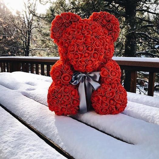 Медведь ручной работы: букеты цветов на заказ Flowwow