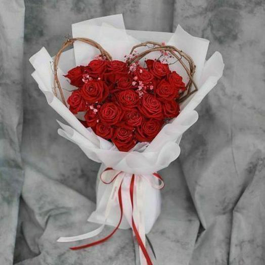"""Букет """"Сердце для любимой"""""""