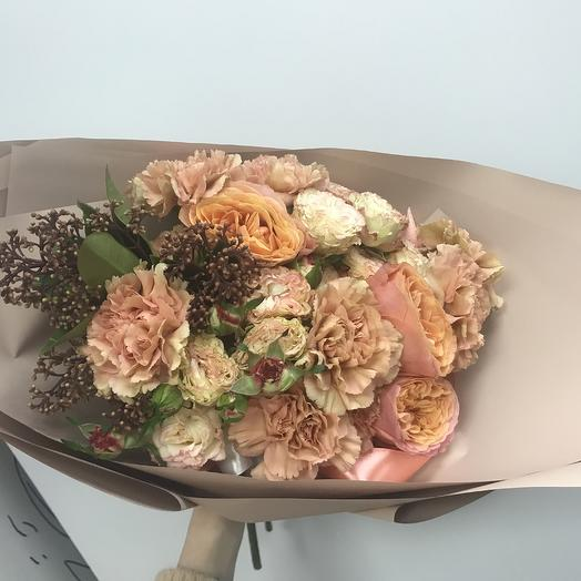 Персиковое наслаждение: букеты цветов на заказ Flowwow