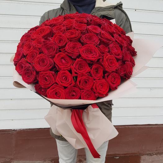 Букет из роз. 101 красная роза: букеты цветов на заказ Flowwow