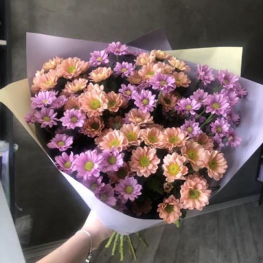 Кустовая хризантема: букеты цветов на заказ Flowwow