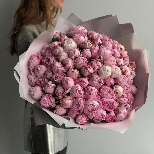 Пионы Сара Бернар (розовые): букеты цветов на заказ Flowwow