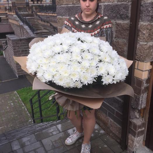 Огромный букет из кустовой хризантемы: букеты цветов на заказ Flowwow