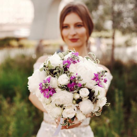 """Букет невесты """"Пион и Роза"""": букеты цветов на заказ Flowwow"""