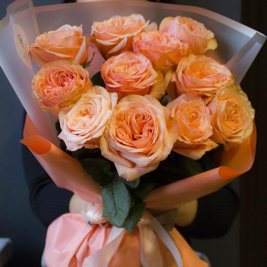 Нежный персик: букеты цветов на заказ Flowwow