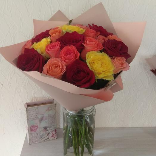 25 роз для нее: букеты цветов на заказ Flowwow