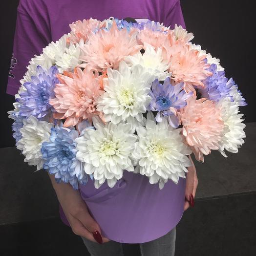 Шляпная коробка XL «Лунная радуга»: букеты цветов на заказ Flowwow