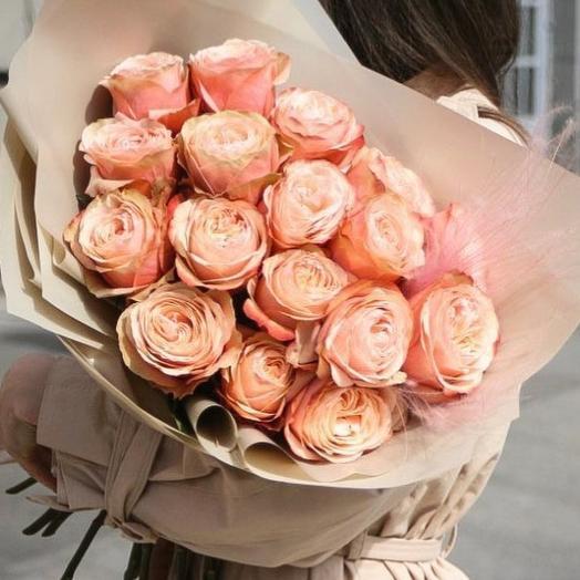 Букет из роз Кахала: букеты цветов на заказ Flowwow