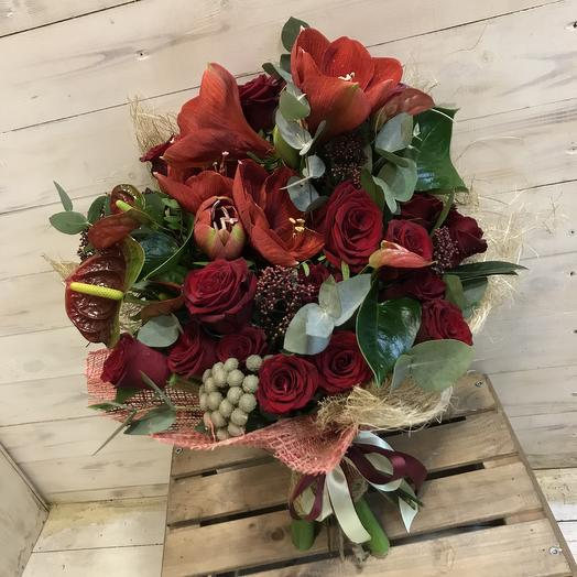 Шикарный мужской букет: букеты цветов на заказ Flowwow