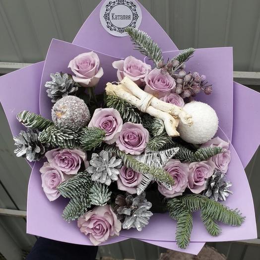 Новогодний букетик: букеты цветов на заказ Flowwow