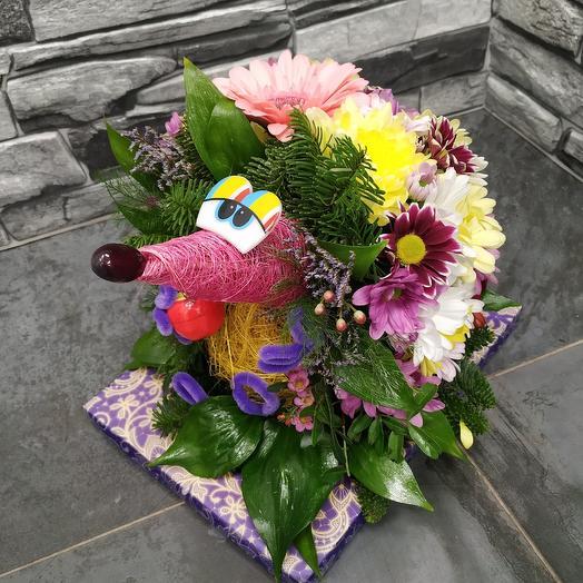 Забавный ёжик 🦔 из живых цветов