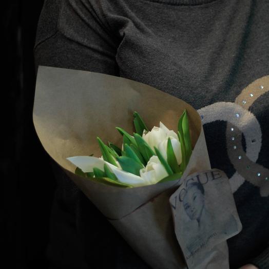 Нежность из тюльпанов: букеты цветов на заказ Flowwow