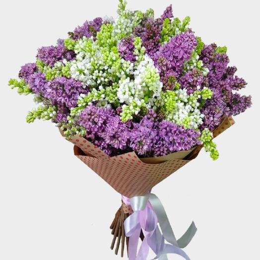 Букет сирени в крафте: букеты цветов на заказ Flowwow