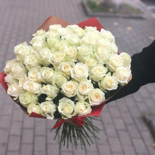 51 Роза ( Белая ): букеты цветов на заказ Flowwow