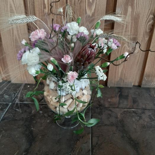 Композиция Фужер: букеты цветов на заказ Flowwow