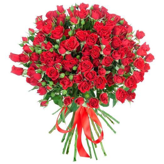 Роза кустовая 19 шт: букеты цветов на заказ Flowwow