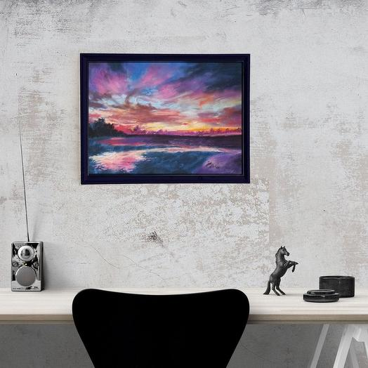 "Картина ""Космический закат"": букеты цветов на заказ Flowwow"