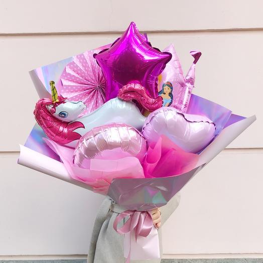 Букет из воздушных шаров «Волшебная страна»: букеты цветов на заказ Flowwow