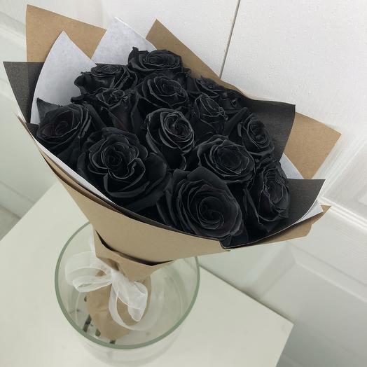 Черные розы на Хэллоуин
