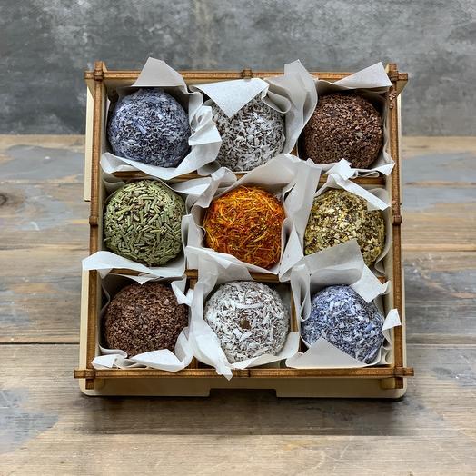 Набор трюфельных, вегетарианских конфет ручной работы