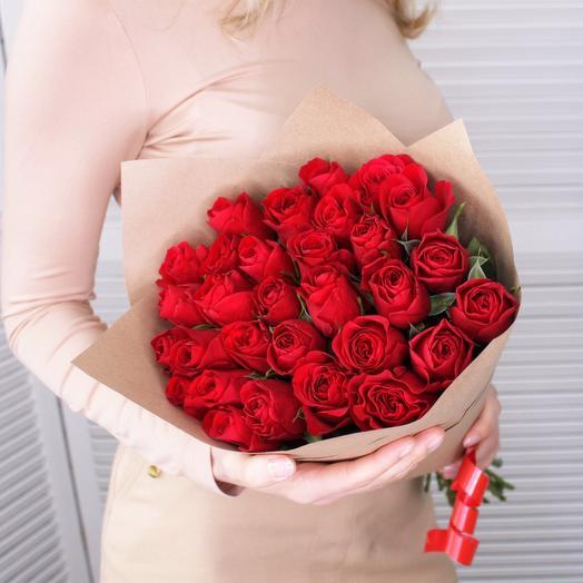 29 красных роз премиум