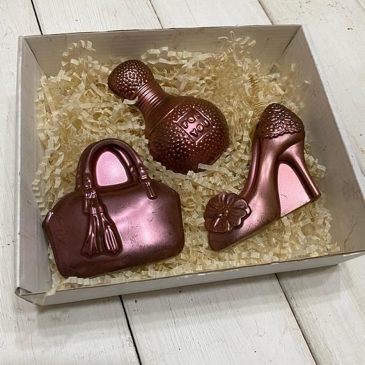 Шоколад ручной работы для девушки (день рождения,)