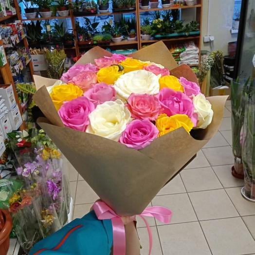 Роза микс 19 шт
