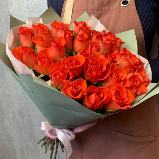 Bouquet of 31 orange roses