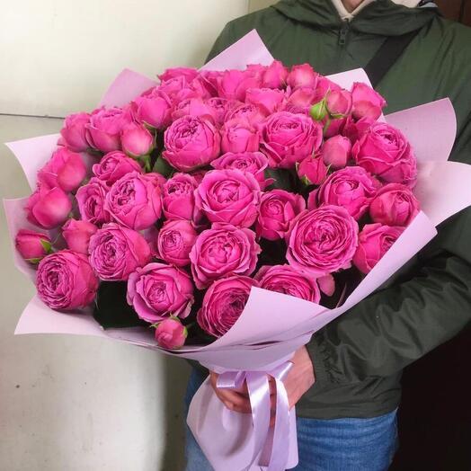 Букет пионовидных роз Мисти баблз