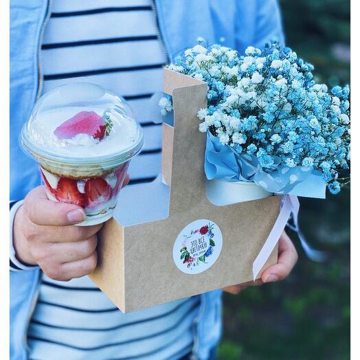 Сет 3 Цветы с десертом