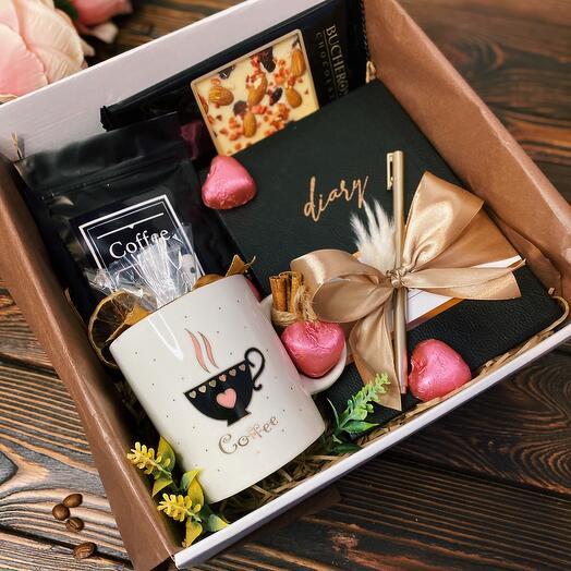 Подарок женщине «Капучино Box» / Кофейный набор